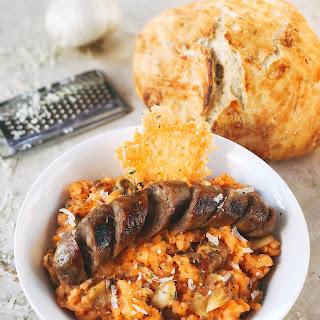 Tomato and Roasted Garlic Parmesan Risotto