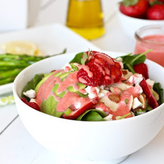 Strawberry Spinach Salad with Strawberry Champagne Vinaigrette