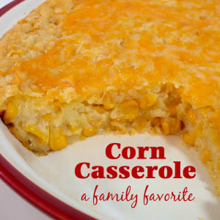 Corn Casserole for the Holidays.