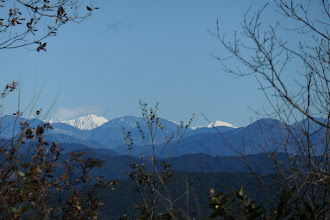 南アルプス方面(左から赤石岳・聖岳・光岳・上河内岳など)