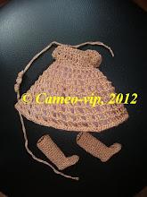 """Photo: №BJD5. 150грн. Комплект""""Фея"""" Fairy 26cm: платье с подъюбником +сапожки+ украшение для волос"""
