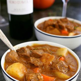 Pumpkin Beef Stew.