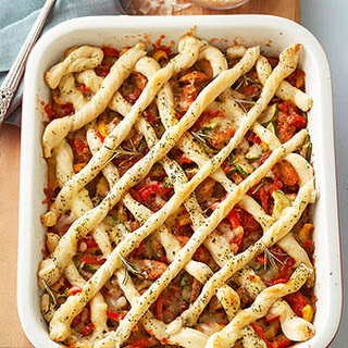 Criss-Cross Pizza Casserole