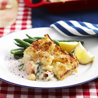 Salmon, Leek and Potato Pie