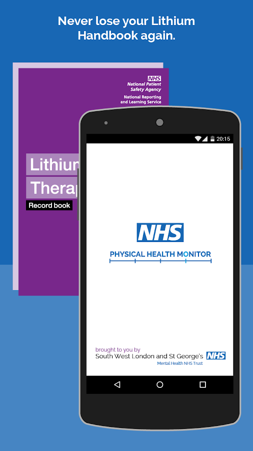 NHS Health Monitor for Lithium- screenshot