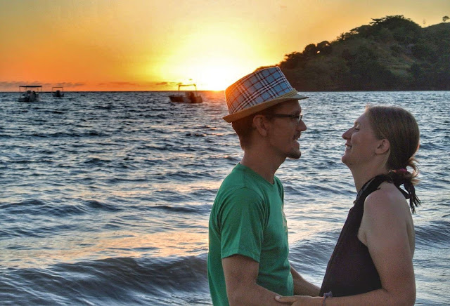 travel couple marriage proposal in Madagascar on the beach