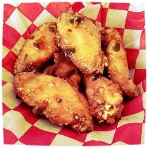 Korean Inspired Chicken Wings Recipe