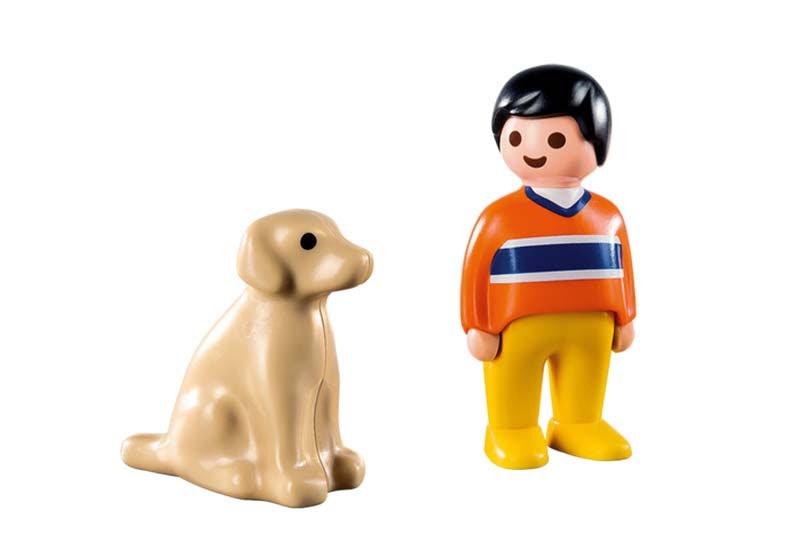 Contenido real de Playmobil® 9256 Hombre con Perro