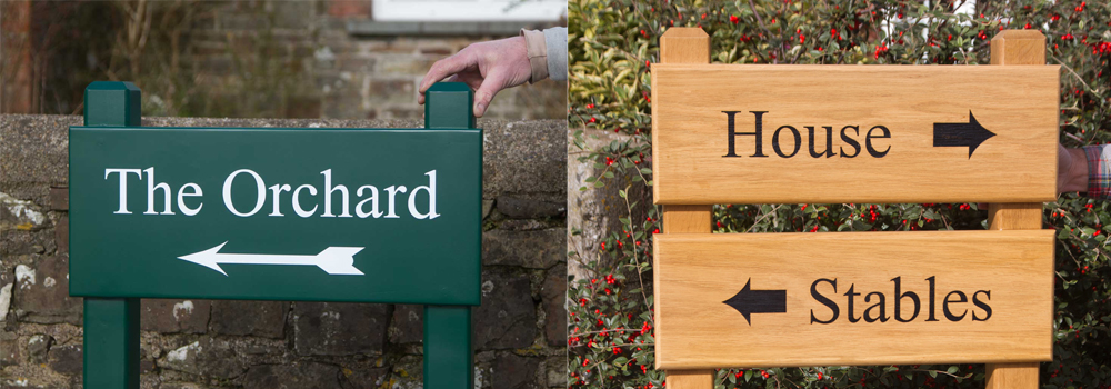 Our standard post tops are simple and elegant, made here at The Sign Maker.