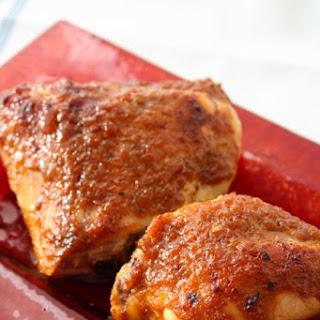 Smoky Ginger Peach Roast Chicken.