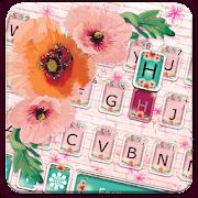 Girly Wall Flower Keyboard Theme APK for Ubuntu