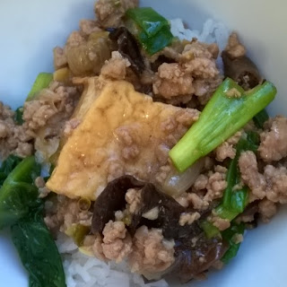Chinese Style Tofu And Pork In Oyster Sauce