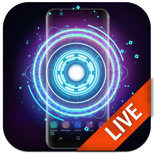 Fancy Neon Spinner LiveWallpaper 3D