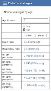 Pediatric vital signs screenshot 1