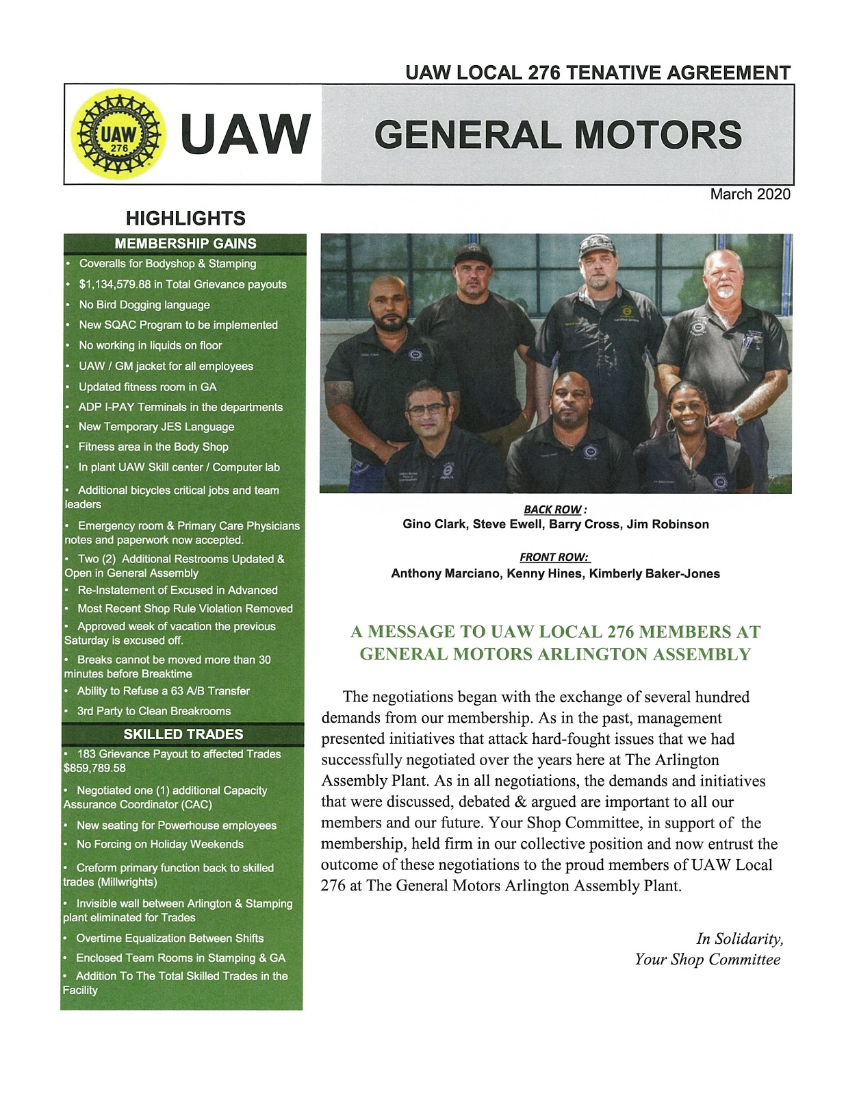 UAW Local 276 Official Site