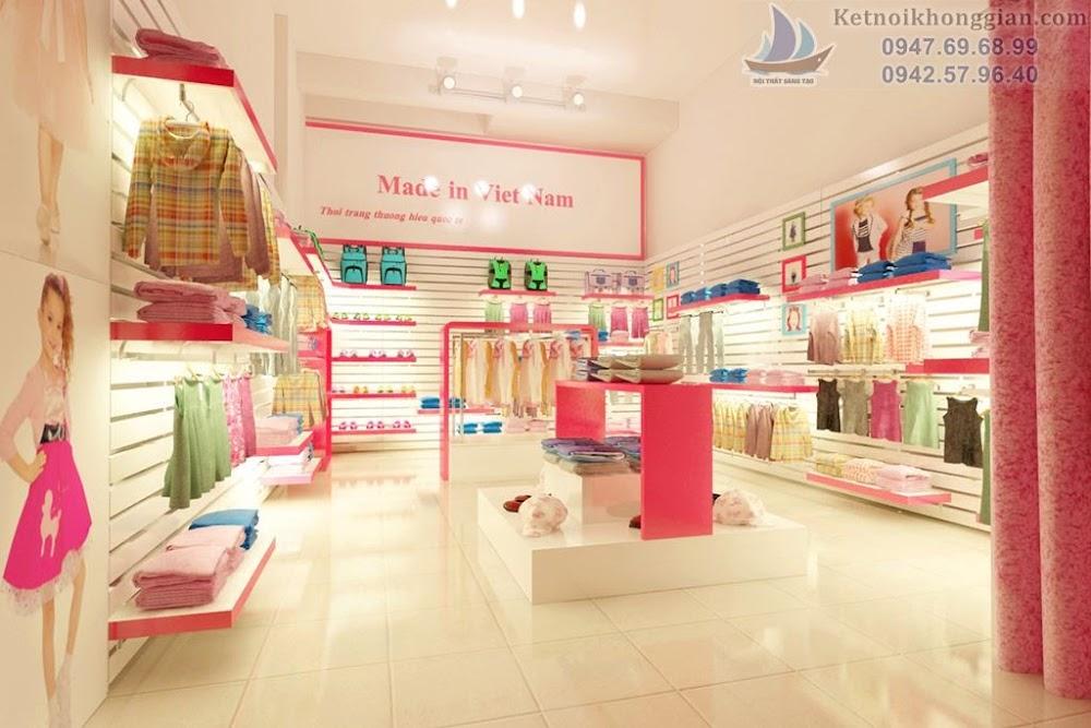 thiết kế shop thời trang trẻ em tại Bắc Cạn