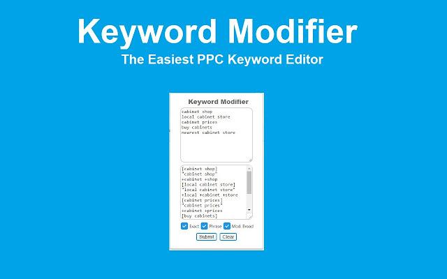 Keyword Modifier