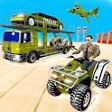 US Army Quad Bike limo Car Transporter Truck icon