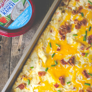 Bacon Ranch Twice Baked Potato Casserole.