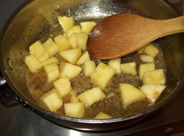 Stir and coat apples...