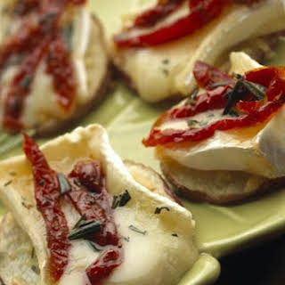 Baby Brie-Topped Potato Slices.