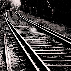 Turned Track........ by Dipan Chaudhuri - City,  Street & Park  Street Scenes