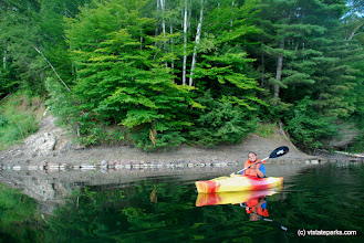 Photo: Kayaking at Kettle Pond State Park by Linda Carlsen Sperry