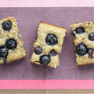Blueberry Date Snack Cake with Oats.