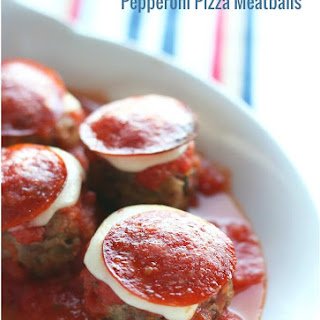 Low Carb Pepperoni Pizza Meatballs (Gluten Free).