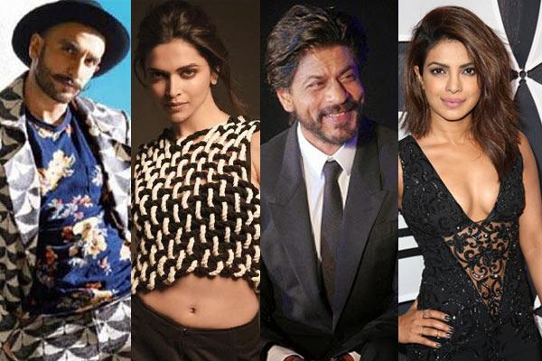 Top Honored Awards are won by Ranveer Singh, Deepika Padukone, Shahrukh Khan and Priyanka Chopra
