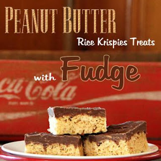 Peanut Butter ~ Fudge Rice Krispies Treats