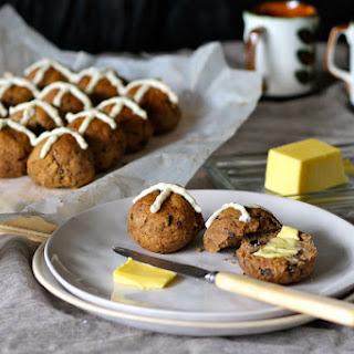Gluten Free Hot Cross Buns with Lemon Cashew Cream
