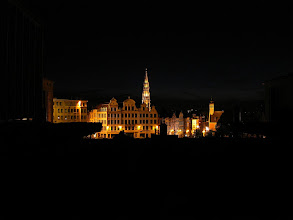 Photo: Brussels at night