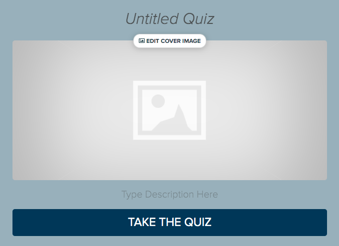 blank quiz cover to design