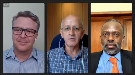 Johan Steyn, Tony Parry and UJ's Professor Tshilidzi Marwala took part in a recent IITPSA AI special interest group discussion.