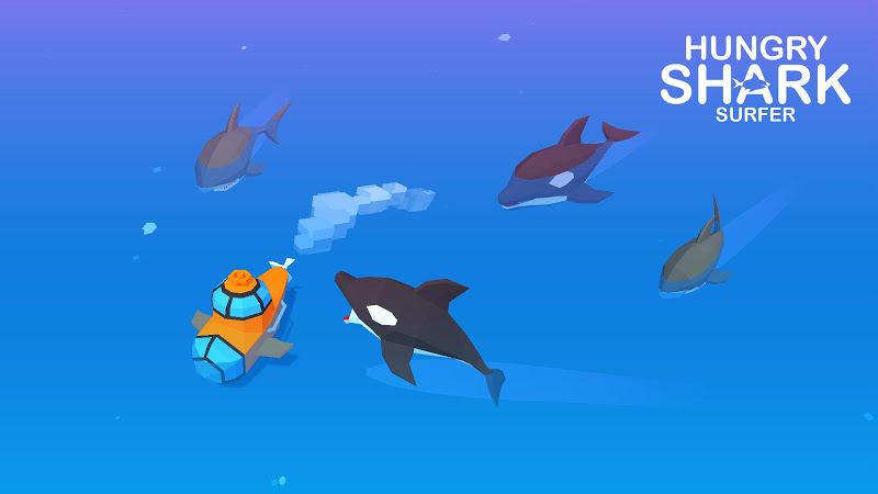Hungry Shark Surfer Screenshot 2