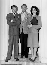 "Photo: Robert Walker, John Cromwell, Jennifer Jones on the set of ""Since You Went Away"""