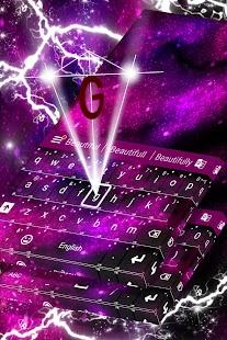 Pink Galaxy Keyboard - náhled