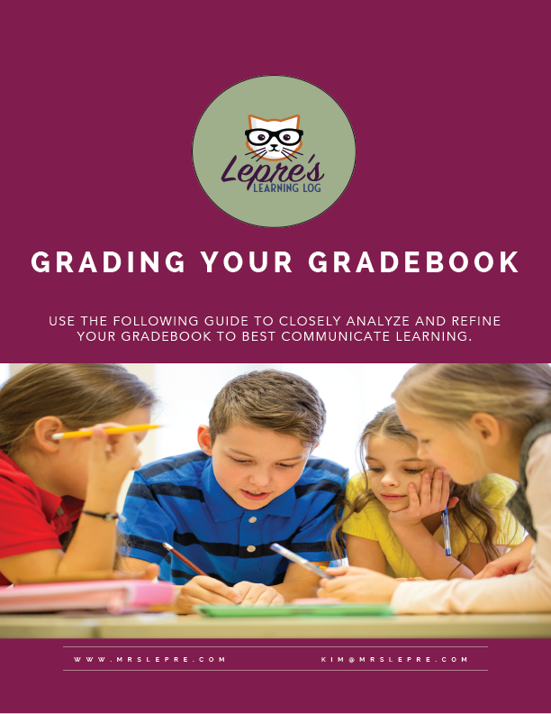Click here to get my FREE Grading your Gradebook Workbook!