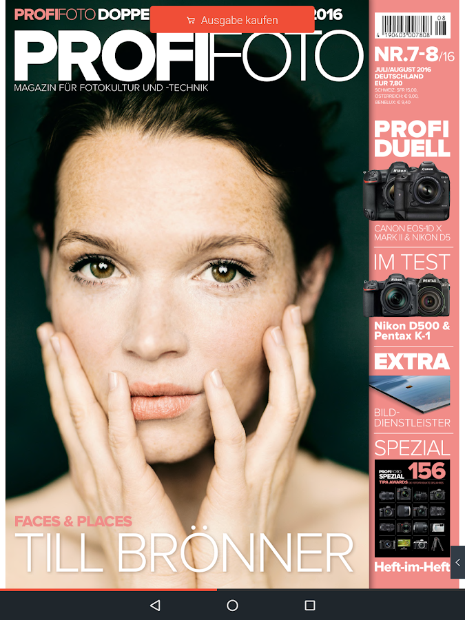 PROFIFOTO E PAPER – Screenshot