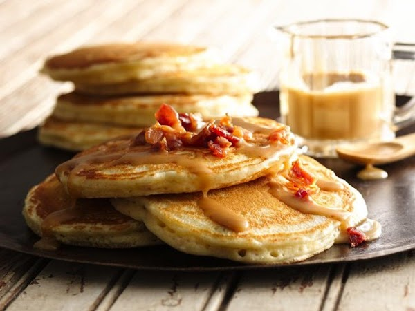 Pancakes With Maple-peanut Butter Syrup Recipe