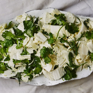 Herby Napa Cabbage Salad with Lime.