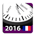 Calendrier 2016 France AdFree icon