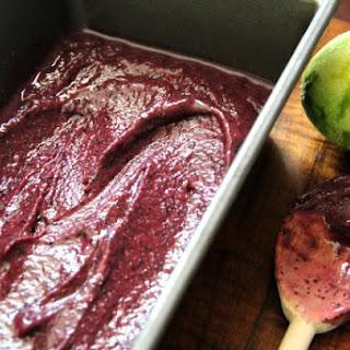 Blueberry Lime Buttermilk Sherbet