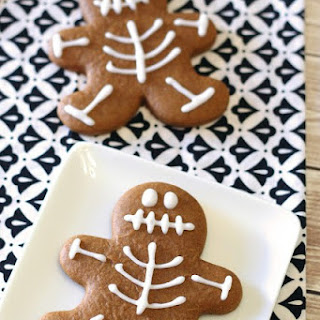 Gluten Free Vegan Gingerbread Skeleton Cookies.