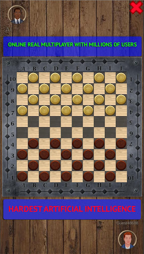 Checkers Online - Draughts Online & Offline android2mod screenshots 1