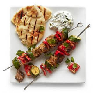Indian-Spiced Lamb Kebabs.