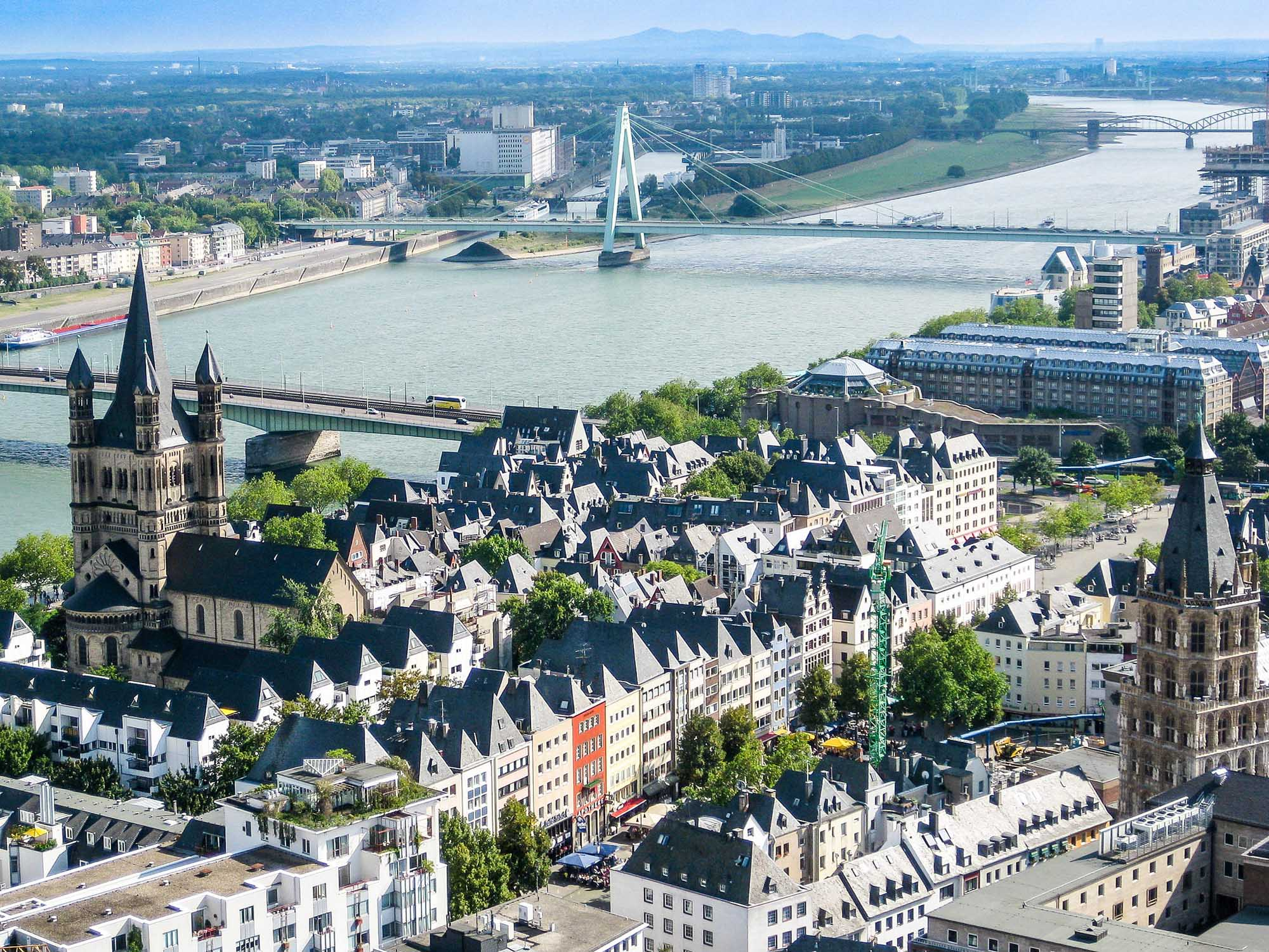 The city of Cologne, Germany. See it during a river cruise on the Rhine.