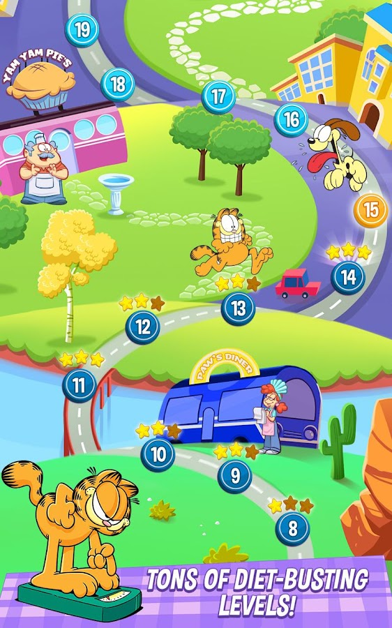 Garfield: My BIG FAT Diet- screenshot