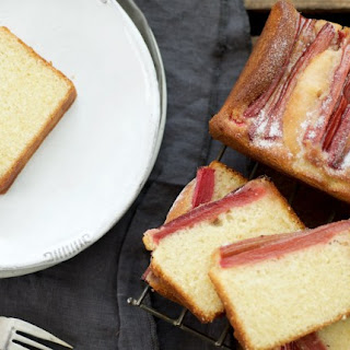 Rhubarb and Buttermilk Loaf Cakes